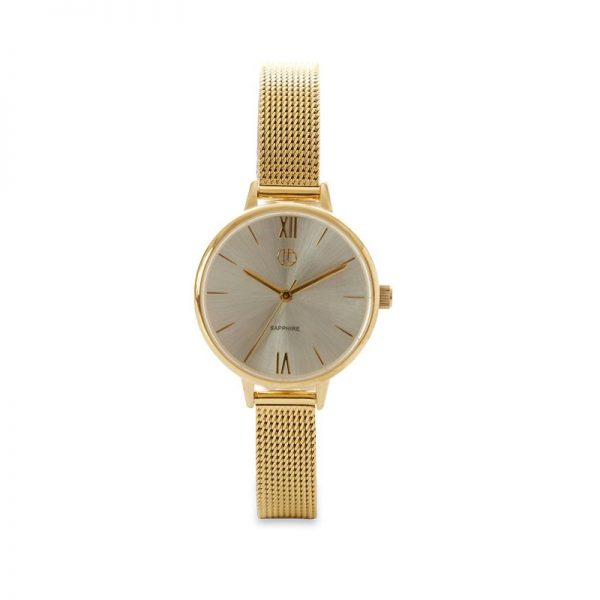 Jeweltime guld double dame ur